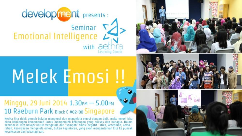 Seminar #MelekEmosi kerjasama dengan development di Singapore