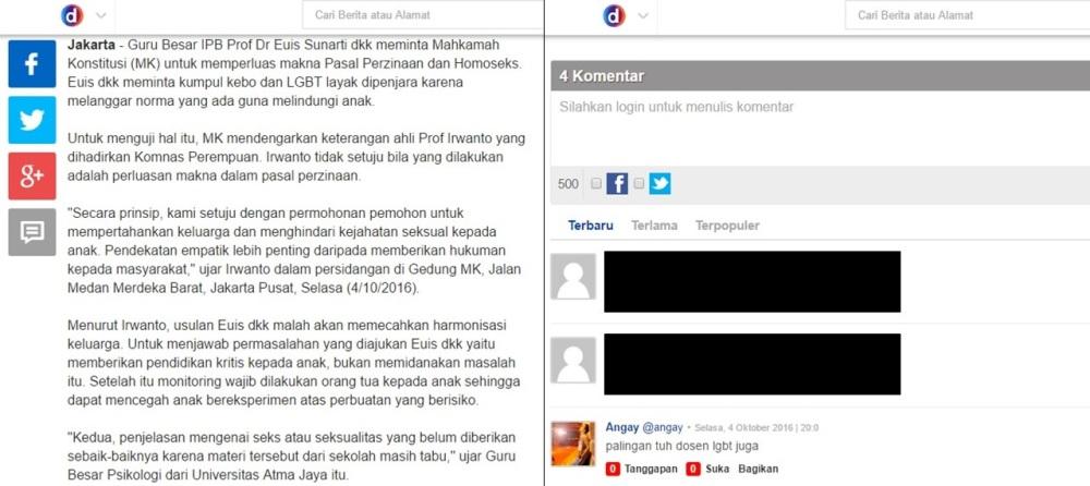 screen capture dari berita http://news.detik.com/berita/3313188/pemidanaan-lgbt-dan-pelaku-kumpul-kebo-diyakini-bukan-solusi-lindungi-anak